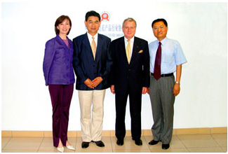 CSPIA president, Mr Liu xiaochuan, met with French